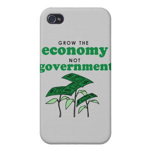Crezca al gobierno de la economía no iPhone 4 fundas
