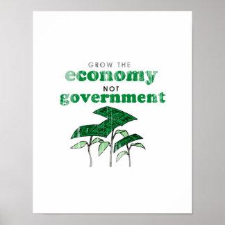 Crezca al gobierno Faded.png de la economía no Póster