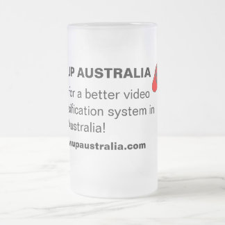 Crezca Australia - taza del vidrio esmerilado
