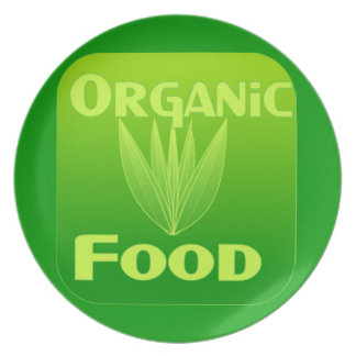 Crezca, coma, compre la placa del alimento biológi platos de comidas