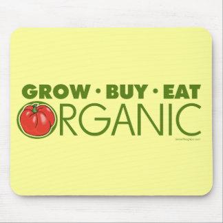 Crezca, compre, coma orgánico mousepad