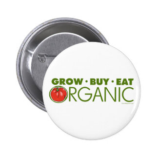 Crezca, compre, coma orgánico pins