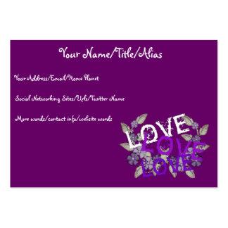 Crezca el amor tarjetas de visita grandes