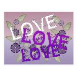 Crezca el amor tarjeta postal