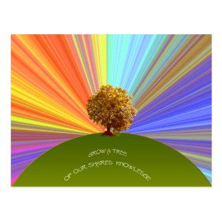 Crezca el árbol del conocimiento postales