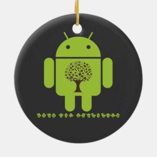 Crezca el ecosistema (el árbol de Droid Brown del  Ornamento Para Arbol De Navidad