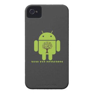 Crezca el ecosistema el árbol de Droid Brown del iPhone 4 Protectores