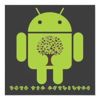 """Crezca el ecosistema (el árbol de Droid Brown del Invitación 5.25"""" X 5.25"""""""