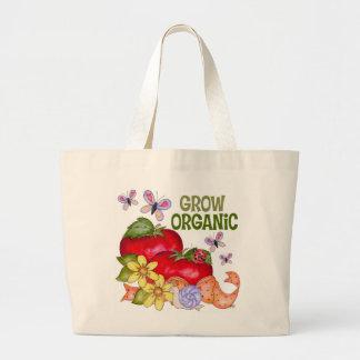 Crezca la bolsa de asas orgánica