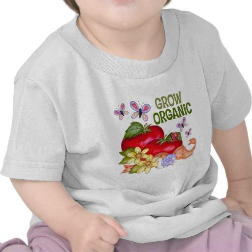 Crezca la camiseta orgánica del bebé