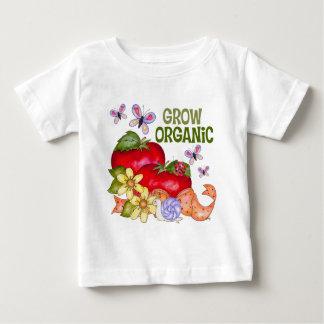Crezca la camiseta orgánica del bebé playeras