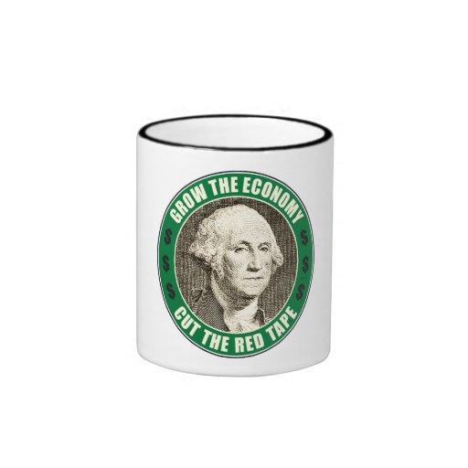 Crezca la economía tazas de café