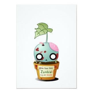 Crezca la invitación del zombi