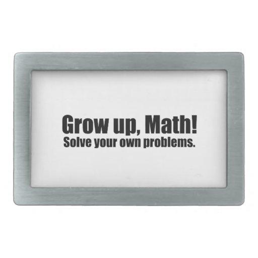 Crezca la matemáticas divertida hebillas de cinturon rectangulares