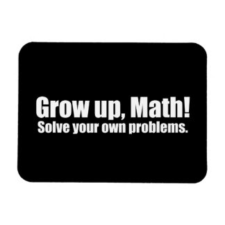 Crezca la matemáticas divertida imanes de vinilo