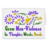 Crezca la No-Violencia Felicitación