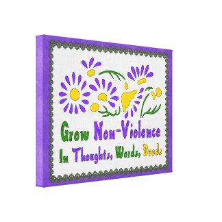 Crezca la No-Violencia Lona Estirada Galerias