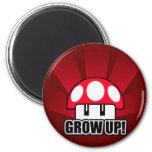 Crezca la seta roja Powerup Imanes De Nevera