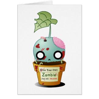 Crezca la tarjeta de felicitación del zombi
