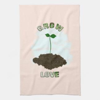 Crezca la toalla de cocina del amor
