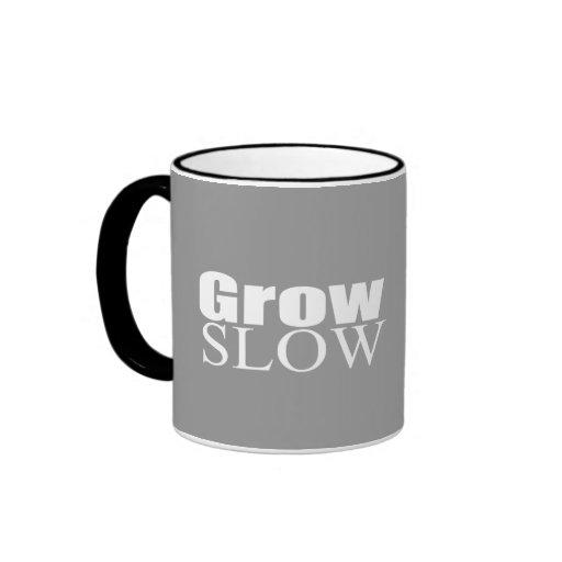 Crezca lento tazas de café