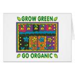 Crezca orgánico tarjeta de felicitación