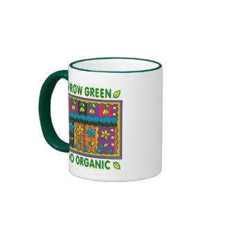 Crezca orgánico taza de dos colores