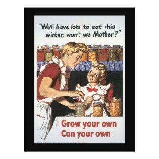 """Crezca su guerra mundial de la comida 2 folleto 8.5"""" x 11"""""""