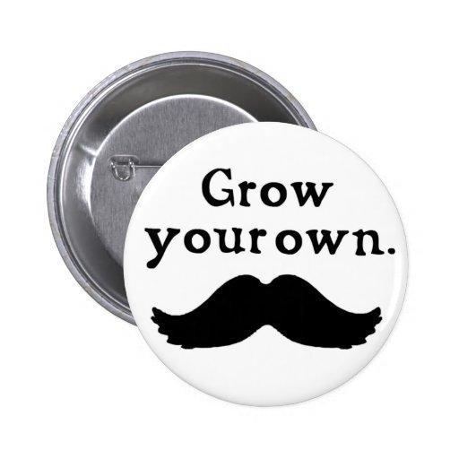 Crezca su propio botón del bigote pins