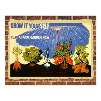 Crezca su propio jardín - poster (la reimpresión postales
