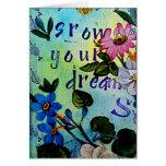 Crezca su tarjeta de la afirmación de los sueños