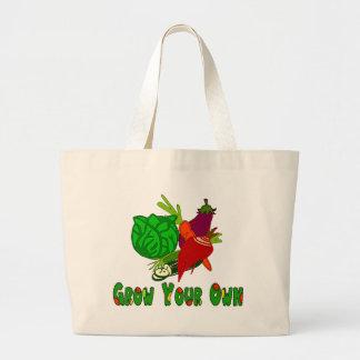 Crezca sus los propios bolsa de tela grande