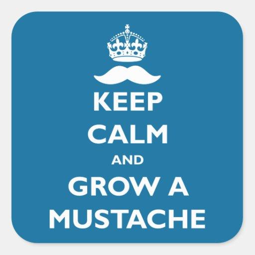 Crezca un bigote etiqueta