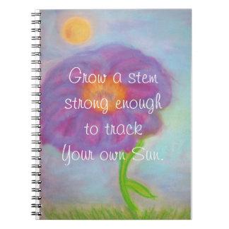 Crezca un diario fuerte del tronco cuaderno