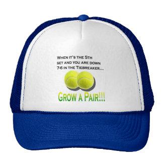 Crezca un diseño para hombre del gorra del tenis d