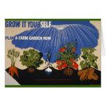 Crezca un jardín de la granja felicitaciones
