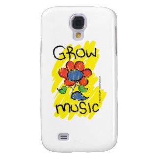 Crezca una cierta música. Refresque el diseño flor Funda Para Galaxy S4