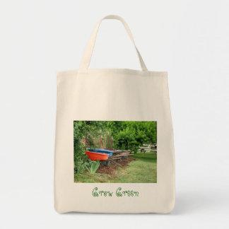 Crezca verde bolsas lienzo