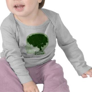 Crezca verde camisetas