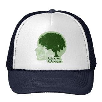 Crezca verde gorro