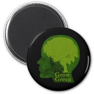 Crezca verde imán