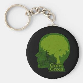 Crezca verde llaveros
