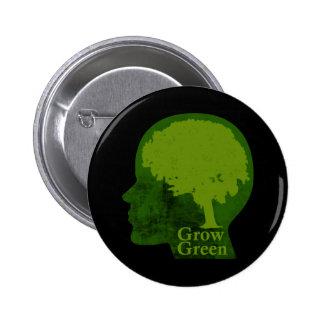 Crezca verde pin