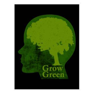 Crezca verde postal