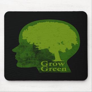 Crezca verde tapete de ratones