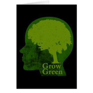 Crezca verde tarjeton
