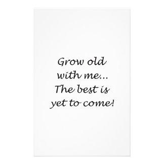 Crezca viejo conmigo papelería personalizada