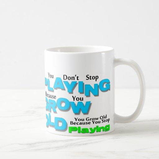 Crezca viejo taza básica blanca