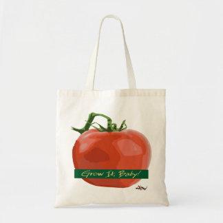 ¡Crézcalo bebé! - Tote del tomate Bolsa Tela Barata