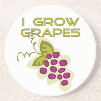 Crezco el práctico de costa de las uvas posavasos personalizados